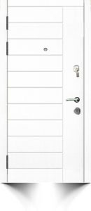Белая дверь в современном стиле