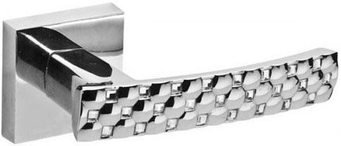 Дверная ручка с квадратным основанием Fuaro CRYSTAL STAR