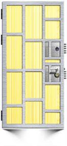 вариант силовой конструкции дверного блока